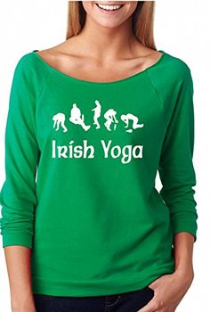 83f481c83 YM Wear Women's Irish Yoga Drinking ST. Patricks Day Off The Shoulder Top  Plus Size X-Large Kelly Green at Amazon Women's Clothing store: