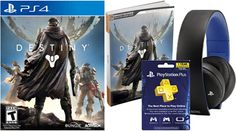 Destiny game, game guide, subscription card, headsets