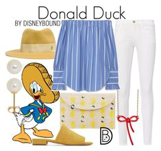 """Donald Duck"" by leslieakay ❤ liked on Polyvore featuring Frame, Belk & Co., Maison Michel, MANGO, Kayu, Mansur Gavriel, Marc by Marc Jacobs, disney, disneybound and disneycharacter"