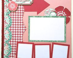 Snowy Days Premade 1 Page 12x12 Scrapbook Layout