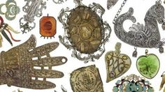 Understanding the body - Algerian, Italian and Tunisian amulets from the Hildburgh Collection, acquired before 1920 - Wellcome Collection Catholic Holidays, Wellcome Collection, Free Museums, Hand Of Fatima, Historical Art, Farm Animals, Folk Art, Tapestry, Amulets