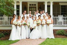 Elegant Georgia Home Wedding | White wedding