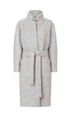 MINIMAL + CLASSIC: grey blanket coat by Ganni | Ganni.com