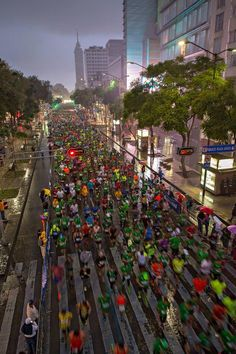 2014 Mexico City Marathon - Starting line (20,000 runners aimed to complete the 26.2 miles)