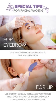 Facial waxing can involve two or more areas in the face. The most common areas to wax are the eyebrows and upper lip. Enjoy these tricks to make facial waxing a lot easier with our waxes. Facial Waxing, Body Waxing, Sugaring, Upper Lip, Beauty Recipe, Slay, Eyebrows, Flexibility, Skincare