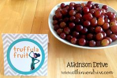 grapes as truffula fruit - Lorax Birthday Party Food