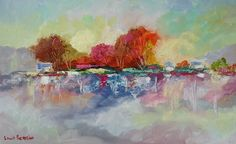 Colored Trees - Louis Pretorius art Rose Oil, Famous Places, Owl House, Kinds Of Music, Impressionism, Oil On Canvas, Original Paintings, Old Things, Autumn