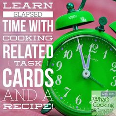 Students will have a blast practicing elapsed time with these cooking related task cards and pancake recipe!