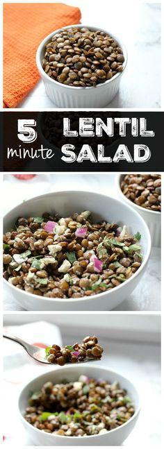 These lentil salad c