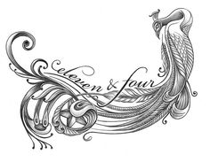Peacock Tattoo by artichokedart, via Flickr  like the shading and body