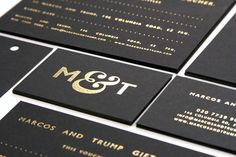 M&T Gold foil business card