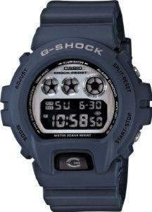 Navy Blue Plastic Resin Case and Strap G-Shock Classic Digital Silver Dial