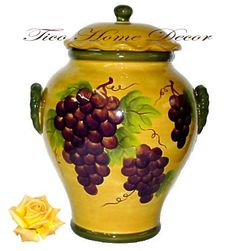 COOKIE JAR, CANISTER TUSCANY GRAPE WINE DECOR ACK http://www.amazon.com/dp/B001PL5HZ6/ref=cm_sw_r_pi_dp_7bqLtb1EFX5FPS38