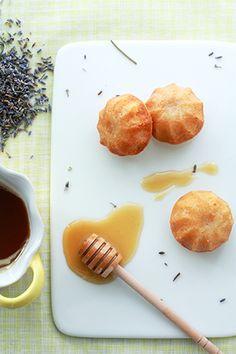 Lavender honey cakelettes