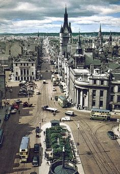 1960 - Aberdeen, Scotland - Looking West up Union Street probably about 1960
