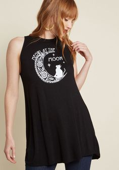 Crescent Calls Graphic Tank Top in 1X - Sleeveless A-line Tunic Graphic  Tank 7a4ad84f6