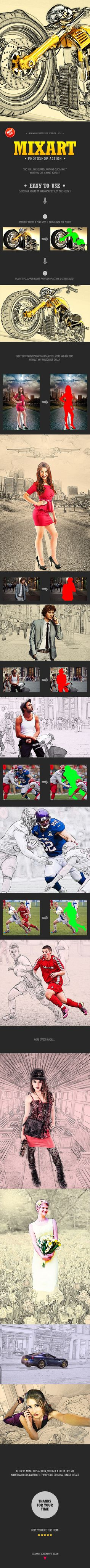 Mixart Photoshop Action - Photo Effects Actions