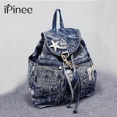 Aliexpress.com : Buy iPinee Hot Sale mochila feminina Women's Backpack denim backpack teenage Girls vintage Travel bag shoulder bags mochila feminina from Reliable mochila feminina suppliers on iPinee Store