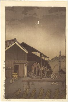 Selection of Views of the Tokaido Series, Seto, Bishu by Kawase Hasui / 東海道風景選集 尾州瀬戸 川瀬巴水