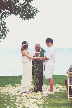 Hawaii Wedding at The Bayer Estate from Beloved Photo Boutique | Style Me Pretty. When in doubt....destination wedding!