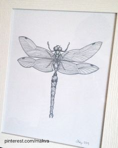 dragonfly drawing, with the help of this tutorial: http://www.easy-drawings-and-sketches.com/dragonfly-drawings.html