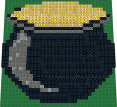 Pot of Gold LEGO mosaic