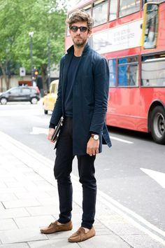 Just be simple. Cutler & Gross shade, Farrell coat, John Smedley jumper, Woo Young Mi trousers, Tod's shoes, and Dior Homme folio.