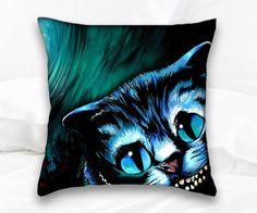 Cheshire Cat Alice In Wonderland Pillow Throw Pillow Cat Pillow