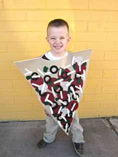 Homemade Pizza Costume | Last Minute Halloween Costumes For Kids