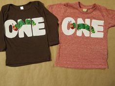 Very Hungry Caterpillar Birthday Shirt for boy or girl Organic Blend  Tee. $28.00, via Etsy.