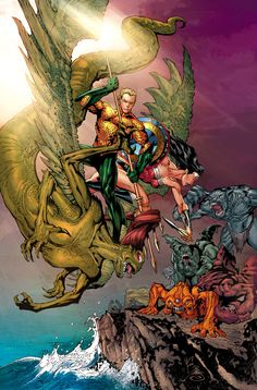 'Aquaman' writer Jeff Parker discusses the Wonder Woman team-up in his 'Annual,' Mera's role as underwater queen and politician and much more. New 52, True Detective, Detective Comics, Comic Book Covers, Comic Books Art, Aquaman Dc Comics, Dr Fate, Ocean Master, Nightwing And Starfire