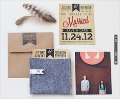 stylish save the dates | VIA #WEDDINGPINS.NET