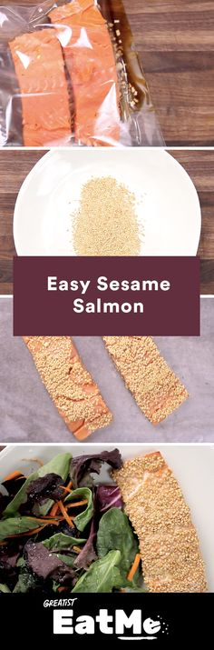 Marinate in the morning and feast at night. #healthy #salmon #recipe http://greatist.com/eat/easy-sesame-salmon-recipe-video