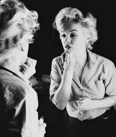 """""""The makeup were like clothes. I saw that it improved my looks just as much as if I wearing an actual gown."""" -Marilyn Monroe"""