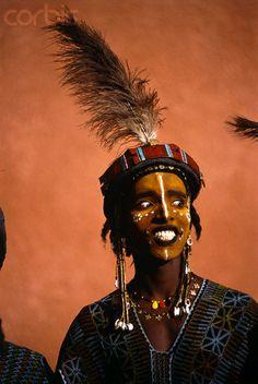 Africa | Male wodaabe, Niger | © Frans Lemmens