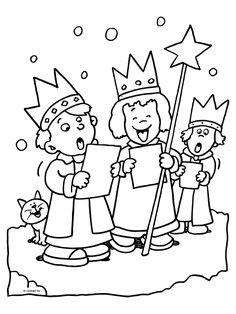 Kleurplaat Kinderen zingen kerstliedjes - Kleurplaten.nl Christmas Coloring Pages, Christmas Colors, Some Fun, Winter, Indiana, Printables, Feelings, Comics, Halloween