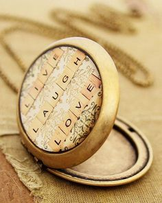 Live Laugh Love Locket Necklace (I want this, no I NEED this!!!)