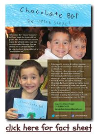 Heard this on K-Love (Christian music station)!  Chocolate Bar Book 6 yr old wrote to raise money for his sick friend.  = ) So heartwarming!!  You can also make a $20 donation and get a copy of the book.