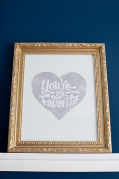 """You're My Favorite"" wall art - such a fab touch in a child's room! #BRITAXStyle"