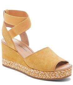 c4409a9ee1 Lucky Brand Bettanie Nubuck Ankle Strap Espadrille Wedge Sandals | Dillard's