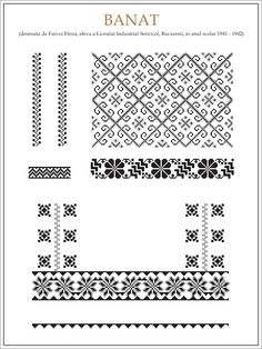 handmade by alina: Ce trebuie sa stim cand coasem o ie Folk Embroidery, Learn Embroidery, Embroidery Patterns, Cross Stitch Patterns, Knitting Patterns, Cross Stitching, Beading Patterns, Blackwork, Needlework