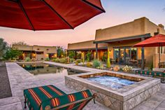 Check out these incredibly luxurious pool and deck designs at DIYNetwork.com.// Desert dwellers rejoice! G.