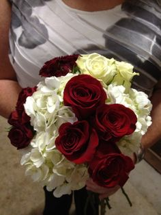 #FromThePottingShed #weddings #wedding #flowers #weddingflowers #boutonnières #bouquet #classic #beautiful #bride #groom #love #everlasting #red #ivory