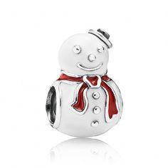 Pandora Happy Snowman Charm 791406ENMX #Pandora #Jewelry #XmasGifts #Christmaspresents #gifts $14.99 www.grassrootlobbying.com