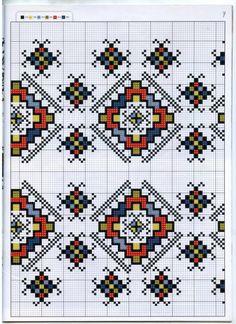 Gallery.ru / Фото #59 - γεωμετ - ergoxeiro Cross Stitch Floss, Cross Stitch Charts, Cross Stitch Patterns, Embroidery Motifs, Cross Stitch Embroidery, Embroidery Designs, Designer Knitting Patterns, Bordado Popular, Mexican Rug
