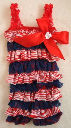 Red White & Blue 4th Of July Lace Petti Romper-Baby Girl-Newborn-Infant-Child-Toddler-Baby Clothes-Dress Up-Birthday Outfit-Fourth Of July by LillyBowPeep on Etsy https://www.etsy.com/listing/151450742/red-white-blue-4th-of-july-lace-petti