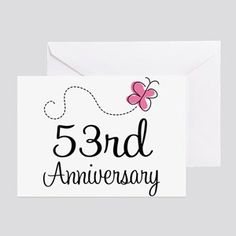 Anniversary Letters, 60 Wedding Anniversary, Year Anniversary Gifts, Butterfly Logo, Pink Butterfly, Custom Greeting Cards, White Envelopes, Pretty In Pink, Card Stock