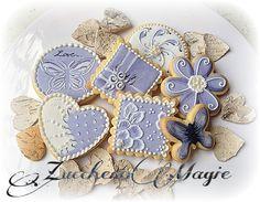 White&violet cookies