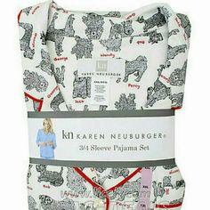 Karen Neuburger Pajamas NWT Extremely comfortable..well made pj's.60% cotton n 40% polyester. Adorned with precious pups. Don't fit me :(  to big  25 pit to pit, 27 shoulder to hem.16-26 waste, 28 inseam Karen Neuburger Intimates & Sleepwear Pajamas