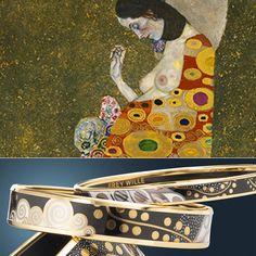 Freywille - joias inspiradas no trabalho de artistas famosos dos séculos XIX e XX. Estes braceletes são inspiradora nas obras de Gustav Klimt! Lindos! Veja post completo em www.carolinedemolin.com.br. #moda #fashion #tendencias #trend #personalstylist #personalstylistbh #consultoriademoda #consultoriadeimagem #imagem #identidade #fashionblogger #looks #lookdodia #lookoftheday #estilo #style #viagem #dicasdeviagem #freywille #joias www.carolinedemolin.com.br